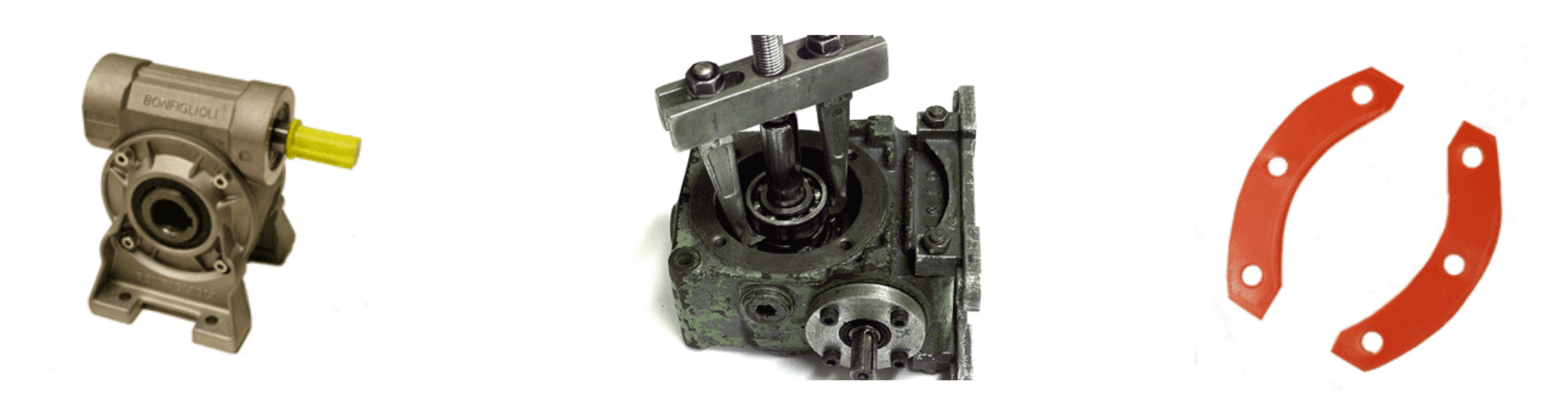 Gear box and bearing puller with gasket
